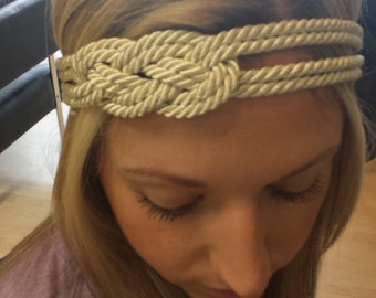 Nautical knot headband - 4 rope