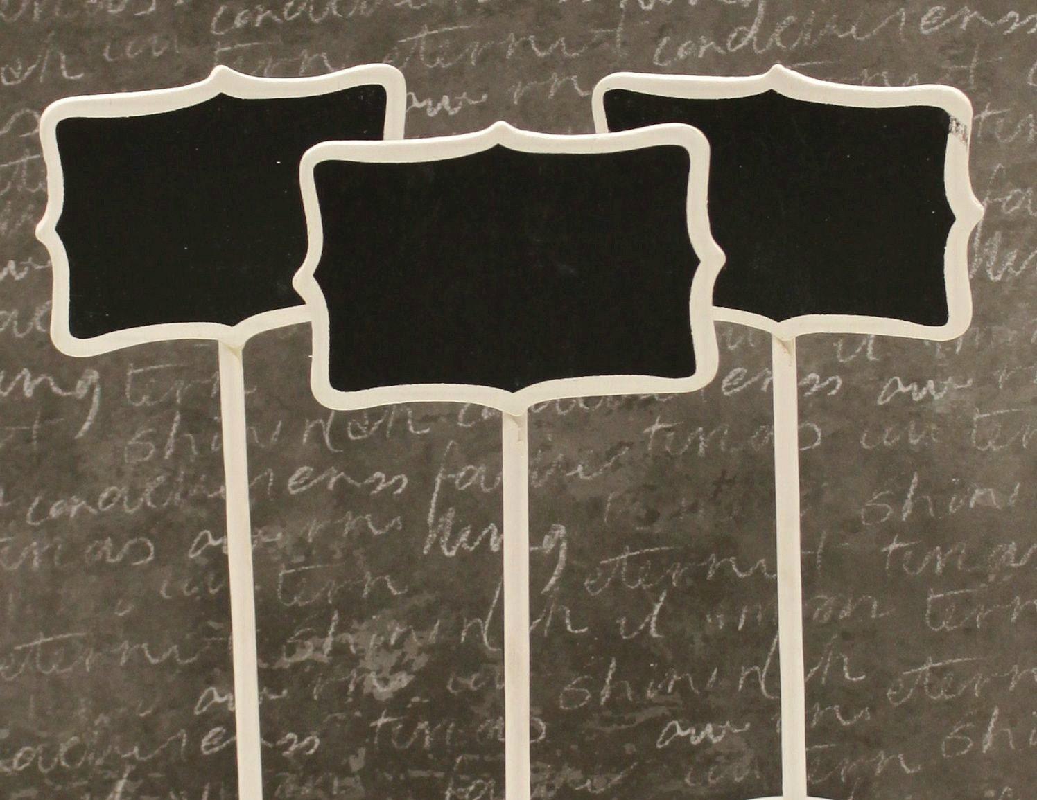 Chalkboard Stands 3 Mini White Wood Chalkboard Signs Name