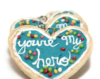 You're My Hero Cookie Pendant