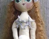 Mermaid Doll Primitive Folk Art