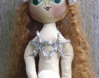 Mermaid Doll Primitive Folk Art