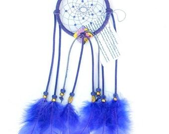 Lilac Purple Dream Catcher, Turkey Flat Feathers
