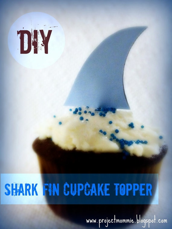 pdf shark fin cupcake topper template with by luminousmoon. Black Bedroom Furniture Sets. Home Design Ideas