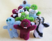 Mini Monster Dolls - Handmade Toys - Stuffed Animals