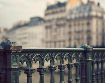 """Paris Bridge, Paris Photography, French Decor, Paris decor, Seine River, Dreamy Paris Wall Art, Fine Art Photography """"Forget Me Not"""""""