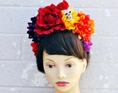 Dia De Los Muertos Headband, Day of the Dead Headpiece, Flower Crown, Day of the Dead Headband, Day of the Dead Headdress