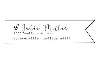 banner rubber address stamp