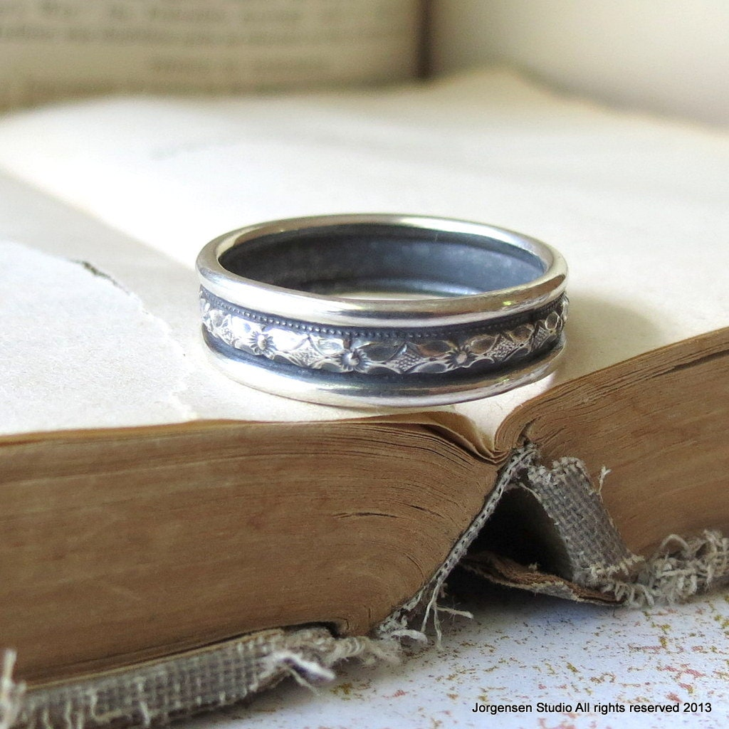 mens wedding ring mens single band sterling silver wedding