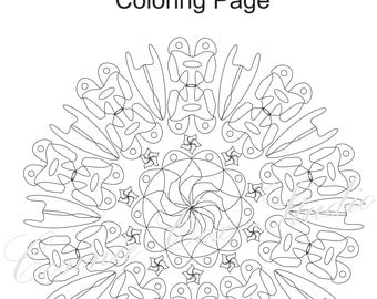 printable medallion coloring pages - popular items for coloring bookmarks on etsy