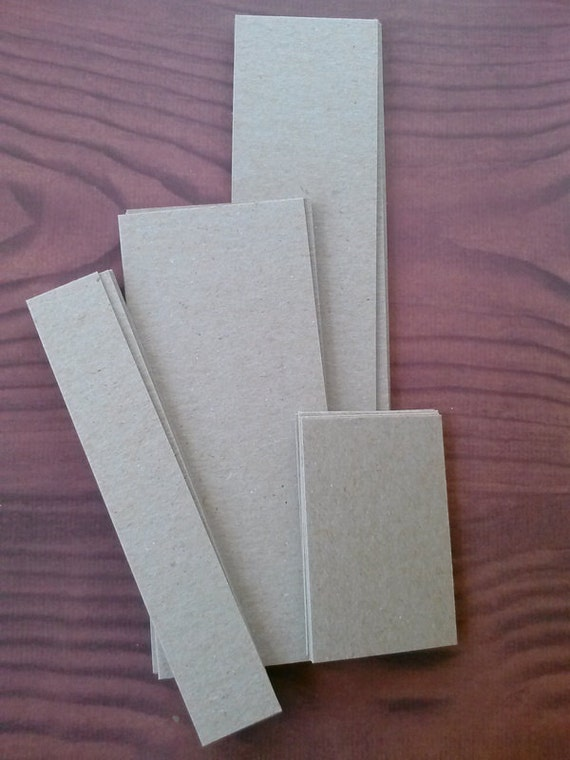 chipboard bookmark blanks in four sizes