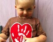 Batik Jerry Hand Heart T Shirt- Size  2T or 4TPURPLE