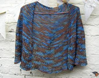 Crochet Pattern for Women's Shawl Cardigan Bolero