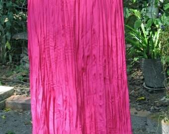 Vintage Boho Gypsy Hot Pink Long Skirt by Essay Medium