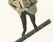 Measuring up.   Original collage by Vivienne Strauss.