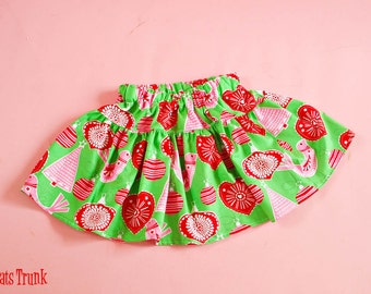 Christmas Skirt Twirl Christmas Infant Toddler Fabric Nordic Ornament 0/6 6/12 12/18 18/24 2T 3T 4T