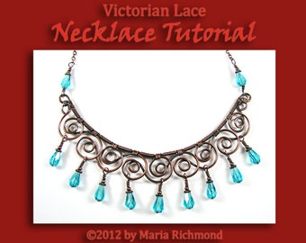 Victorian Lace Wire-wrapped Bib-type Necklace Tutorial