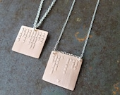 CUSTOM personalized Morse code necklace in copper and sterling silver | custom gift for him or her