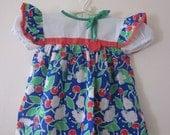 Vintage Cherry Print Dress
