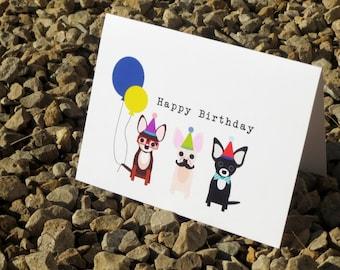 Chihuahua Birthday Card - Folded - Birthday Card - A2