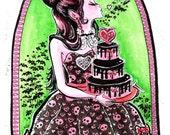 Draculaura Sweet 1600 Monster High Fan Art Print 11x14