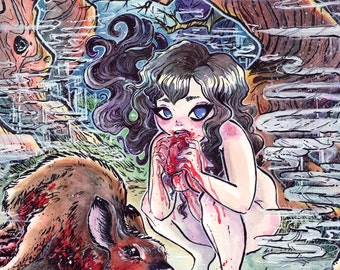 MEAT Snow White Eats Bambi - Murder Tales Print