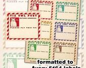 Harry Potter Owl Post Address Labels digital collage sheet  EDITABLE PDF INCLUDED