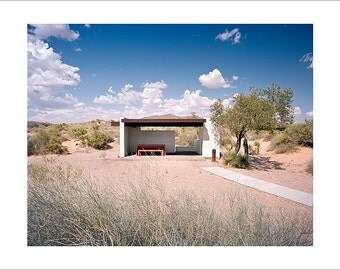 Original Fine Art Photography Print Photograph Mid Century Modern Vintage Architecture Road Trip Americana Minimalist Film Desert Southwest