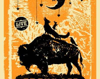 Grant-Lee Phillips Official Screenprinted Poster 2013 11x17 silkscreen Grant Lee Buffalo gigposter