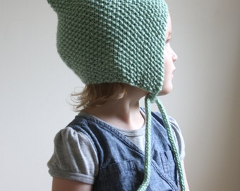 KNITTING PATTERN PDF File - Knit Pixie Bonnet Pattern - Baby Bonnet Pattern - Hat Pattern - Knit Baby Hat Pattern - Baby Knitting Pattern