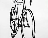 Bicycle Art  Print - Racycle Bike on Velata Paper