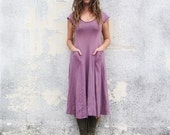 ORGANIC Perfect Pockets Below Knee Dress ( light hemp and organic cotton knit ) - organic dress
