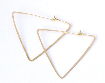 triangle heaven hammered hoops