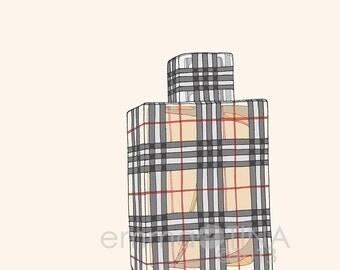 Burberry Brit Perfume Fashion Illustration Art Print