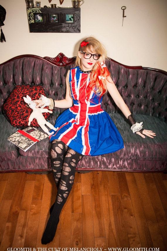 Gloomth Union Jack Cotton Flag Dress
