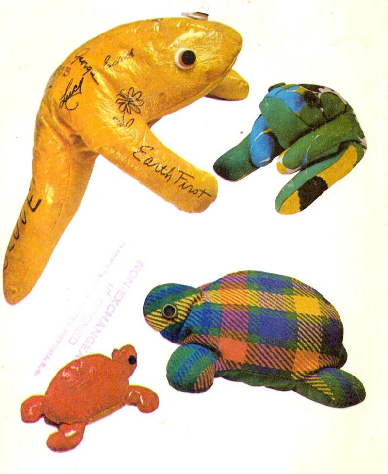 Turtle Frog Bean Bags Animal Bean Bags Mccalls 3000 Sewing