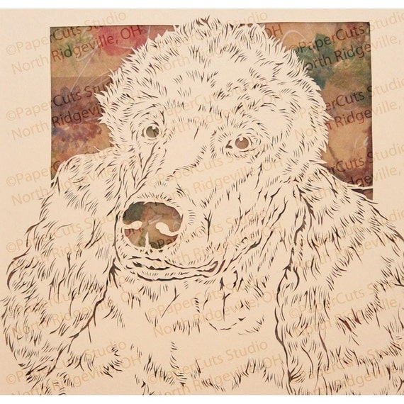 Standard Poodle Papercutting- Handcut original  *FINAL EDITION*