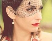 Ooh La La  - Bow Headband Birdcage Veil for Wedding  Bridal Accessory  Bridesmaids