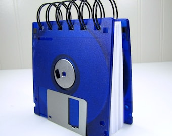 Floppy Disk Notebook JUMBO Neon Purple Computer Disk Recycled Geek Gear Blank Mini 125 sheets