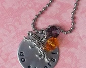 Hand Stamped Clemson Tiger Necklace - ON SALE