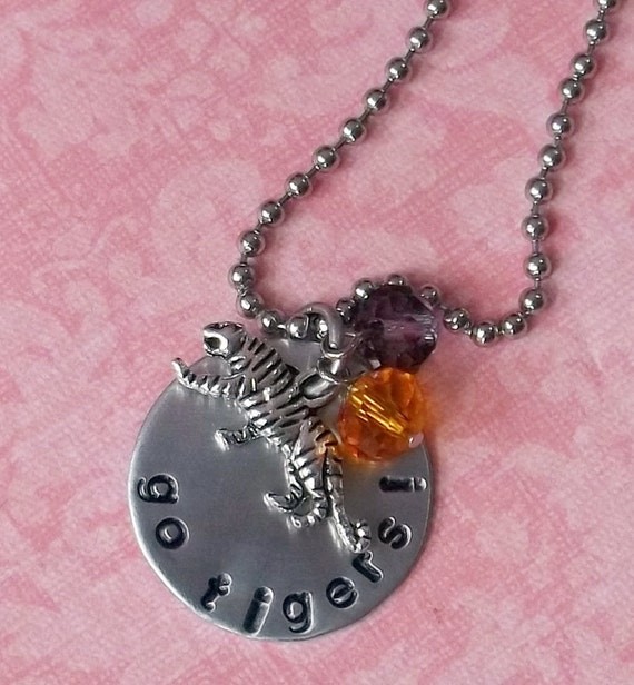 Hand stamped clemson tiger necklace for How do you make hand stamped jewelry