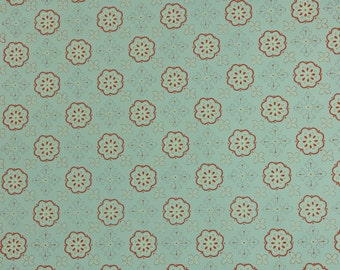 1950s Vintage Wallpaper by the Yard - Geometric Wallpaper with Blue and Pink Design