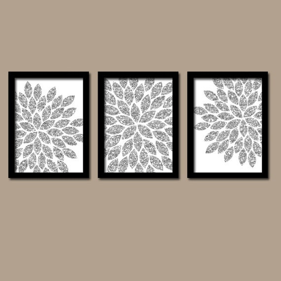 Silver Glitter Wall Art Bedroom Pictures Canvas Or Prints