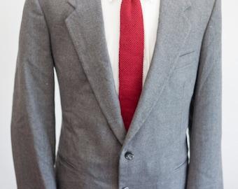 Men's Blazer and Trousers / Vintage Grey Wool Suit by JJ Cochran / Size 42 Medium-Large