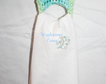 Crocheted Towel Holders (Set of Two) -Colors listed ready to ship