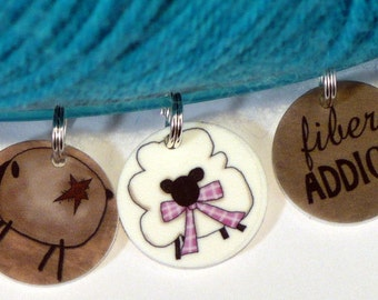 STITCHMARKERS for KNITTERS, Fiber Addict