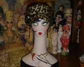 "19"" Smoking Flapper Mannequin Head Hand Bust Display"