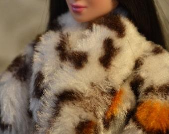 Faux Fur Coat for Barbie