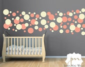 Vinyl Polka Dot Circles Wall Decal - Circle Polka Dot Wall Art - Vinyl Sticker Polka Dots - CN120