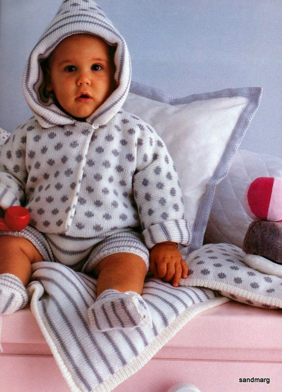 Knitting Patterns For Baby Layettes : Pingouin Nr 92 Six Adorable Layettes for Baby Knitting by sandmarg