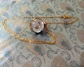 Mustard Seed Round Charm Necklace
